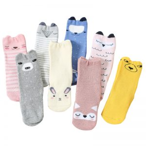 2018 Autumn Winter Thicken baby socks Cartoon animal cute Knee high Girl Boy Toddler Socks lovely infant Soft Cotton socks